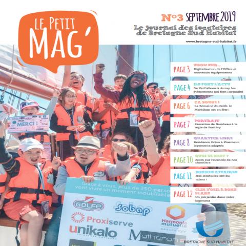 Couverture journal locataire Petit Mag bailleur social Morbihan Bretagne Sud Habitat
